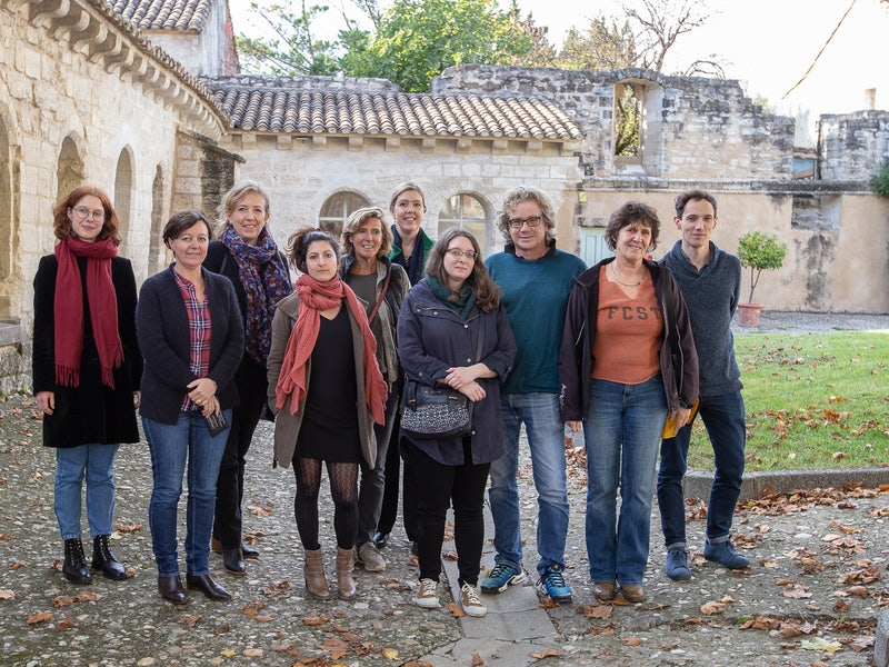 The participants of the translation workshop in France