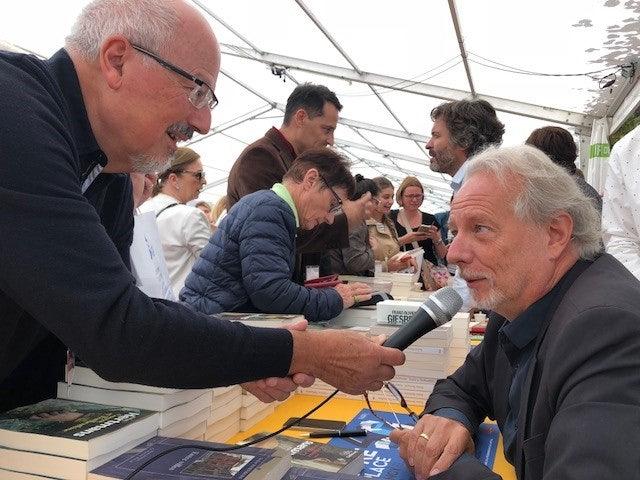 Stefan Hertmans is interviewed in Nancy