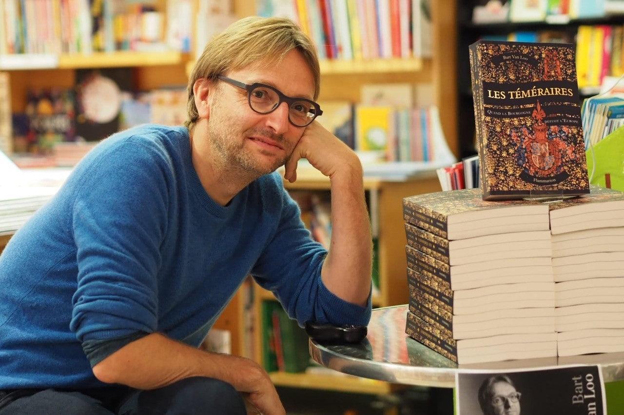 Bart Van Loo in the bookstore Librarie du Parc in Paris