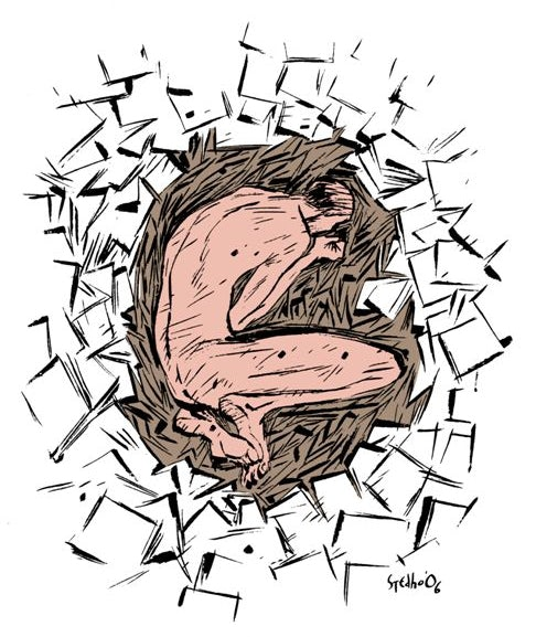 Illustration inspired on 'Tonguecat' © Stedho