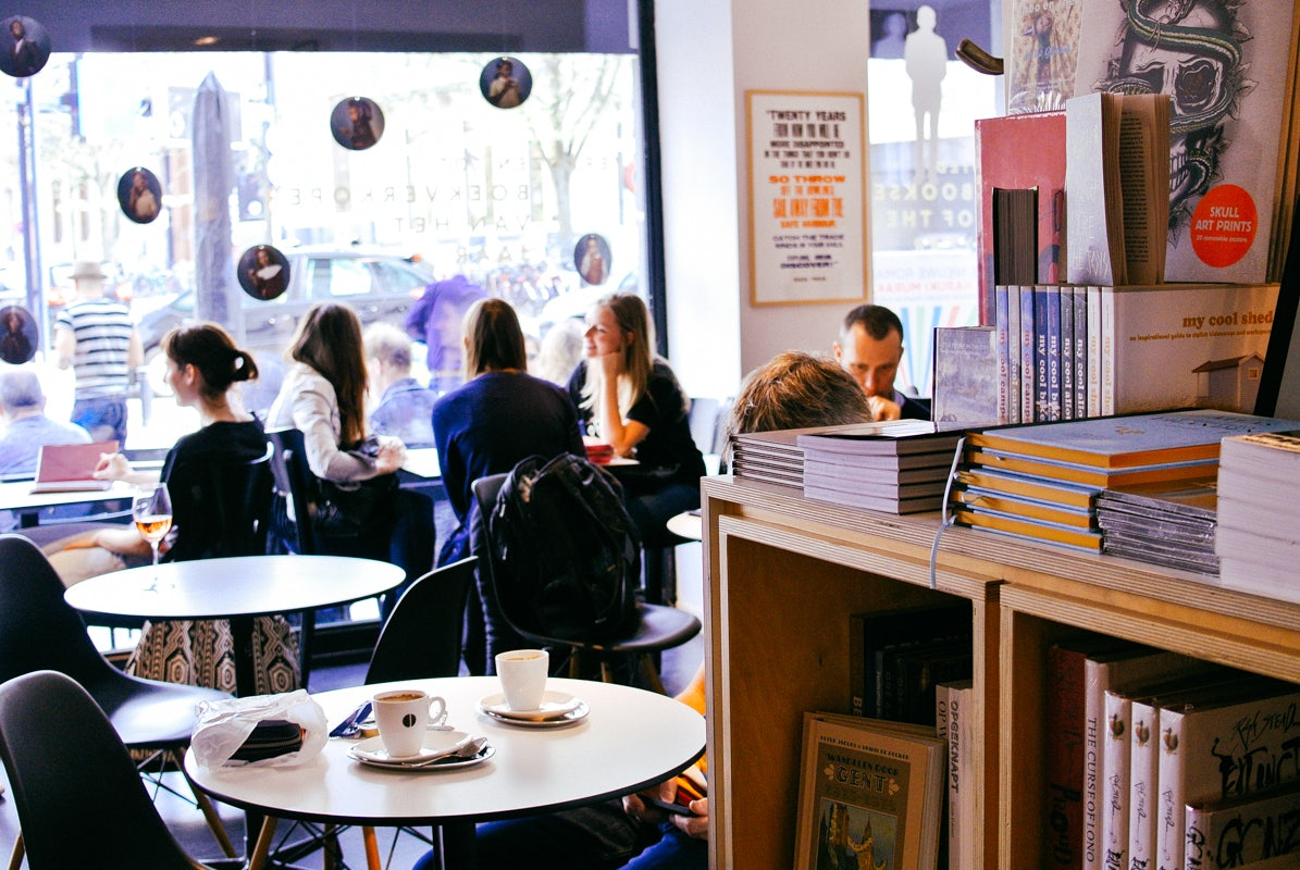 Bookshop Paard Van Troje in Ghent.